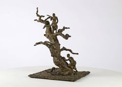 Tree With Children, Bronze sculpture