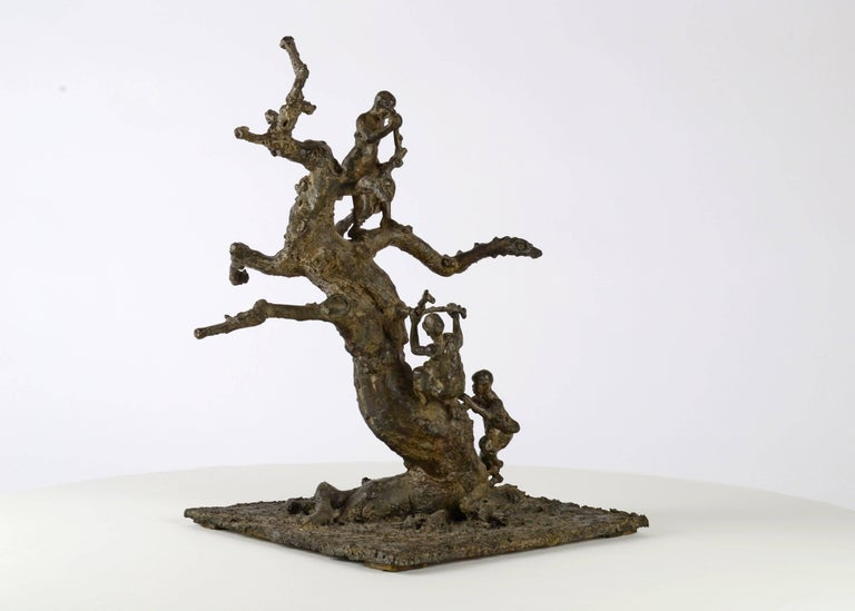 Tree With Children, Bronze sculpture For Sale 3