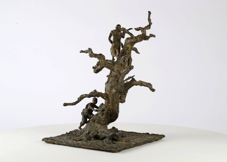 Tree With Children, Bronze sculpture For Sale 1
