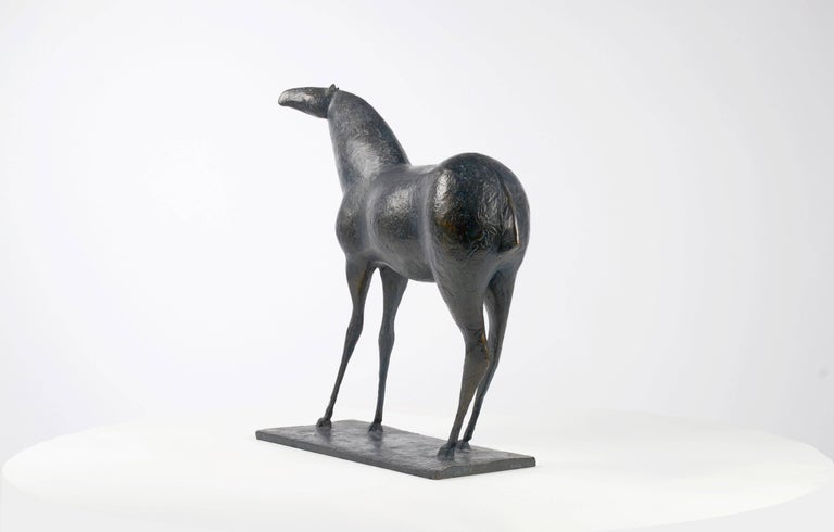 Horse XIII, Animal Bronze Sculpture - Gold Figurative Sculpture by Pierre Yermia