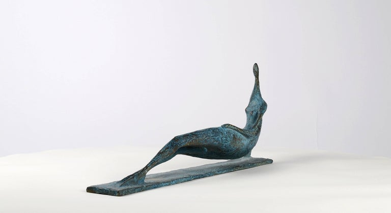 Lying Figure IV - Contemporary Bronze Sculpture For Sale 5