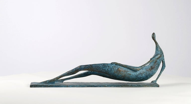 Lying Figure IV - Contemporary Bronze Sculpture For Sale 4