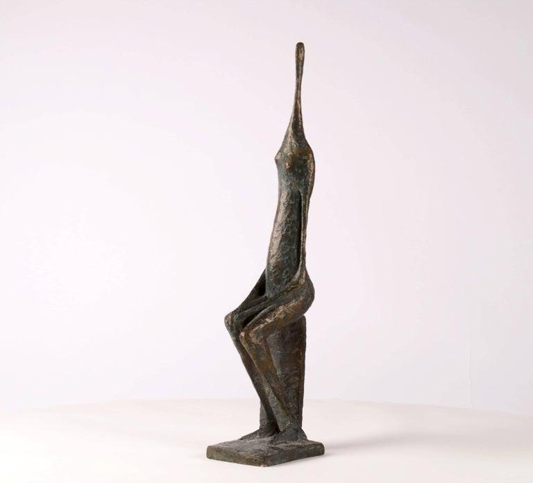 Seated Figure XII - Contemporary Bronze Sculpture 2