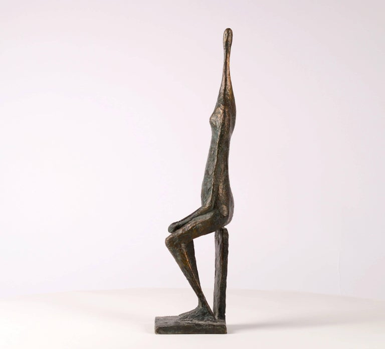 Seated Figure XII - Contemporary Bronze Sculpture 3