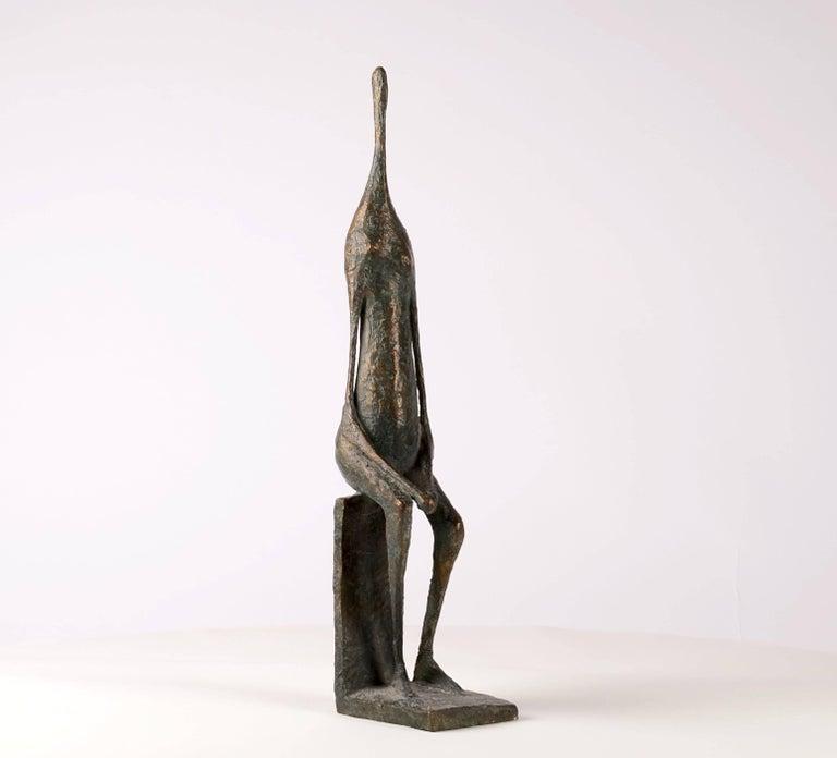 Seated Figure XII - Contemporary Bronze Sculpture 8