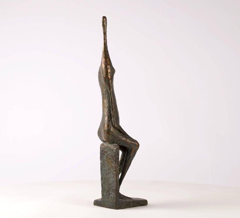 Seated Figure XII - Contemporary Bronze Sculpture 6