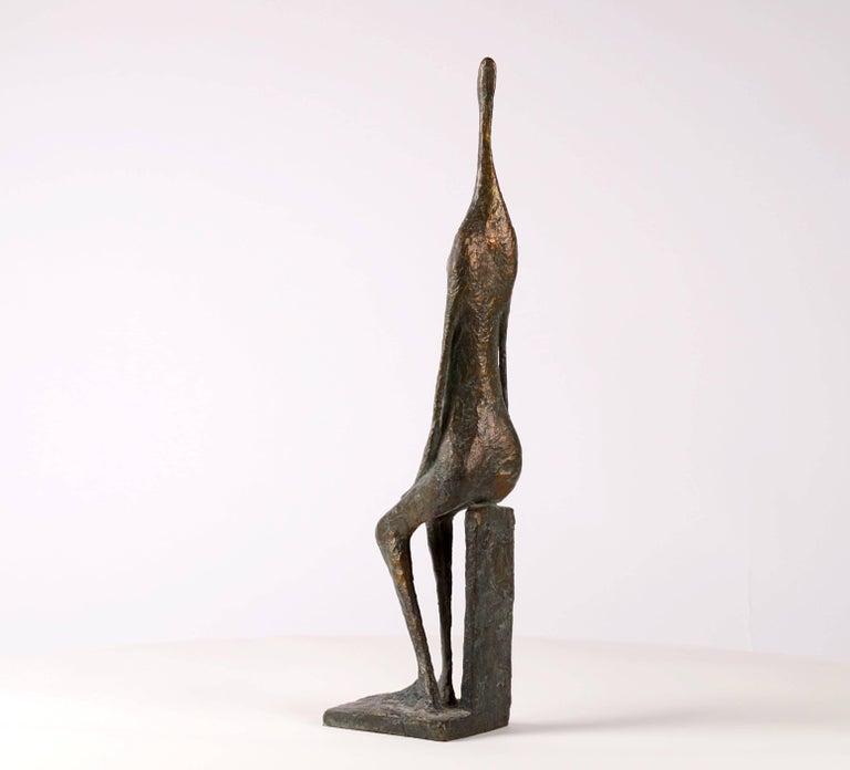Seated Figure XII - Contemporary Bronze Sculpture 4