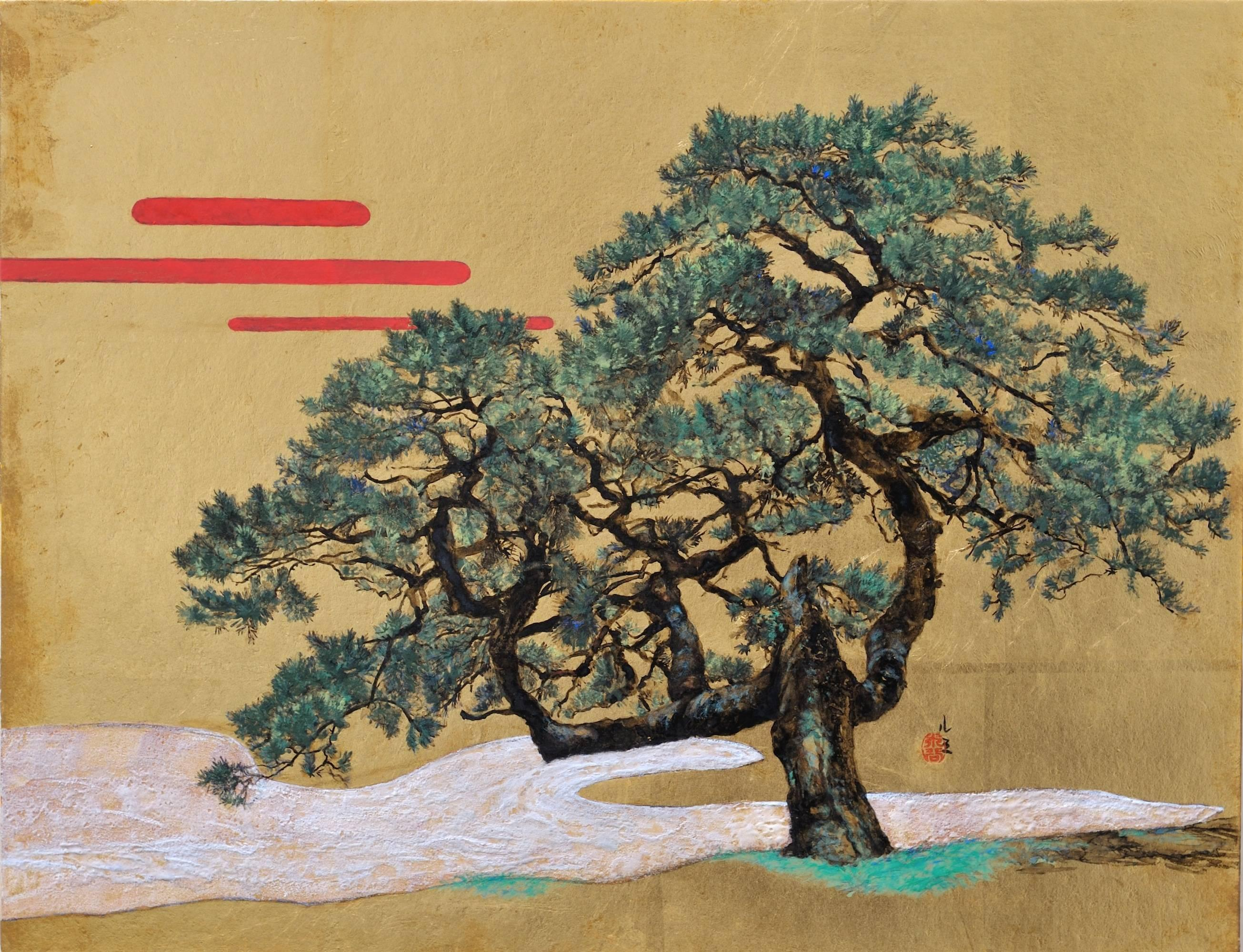 Memory - Contemporary painting, Japanese landscape