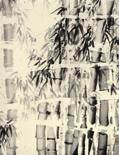 Bamboo II,  Contemporary Ink Wash Painting