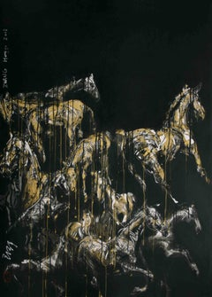 Nocturnal Melody 2 - Animal Painting (Horses)
