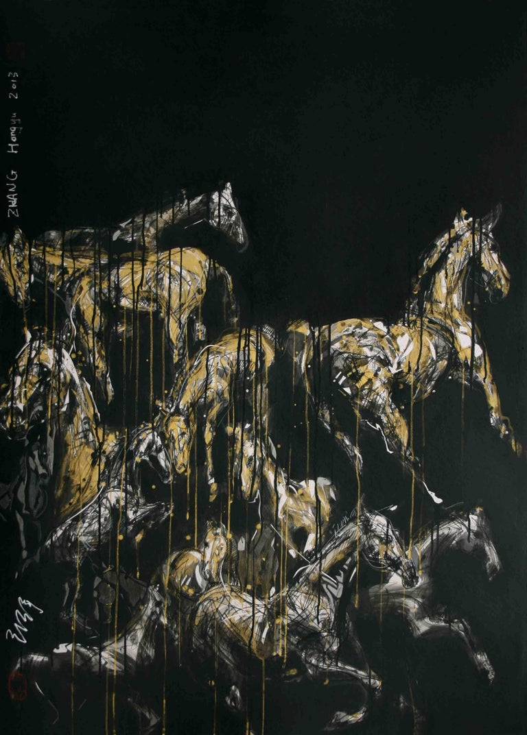 Nocturnal Melody 2 - Animal Painting (Horses) 1