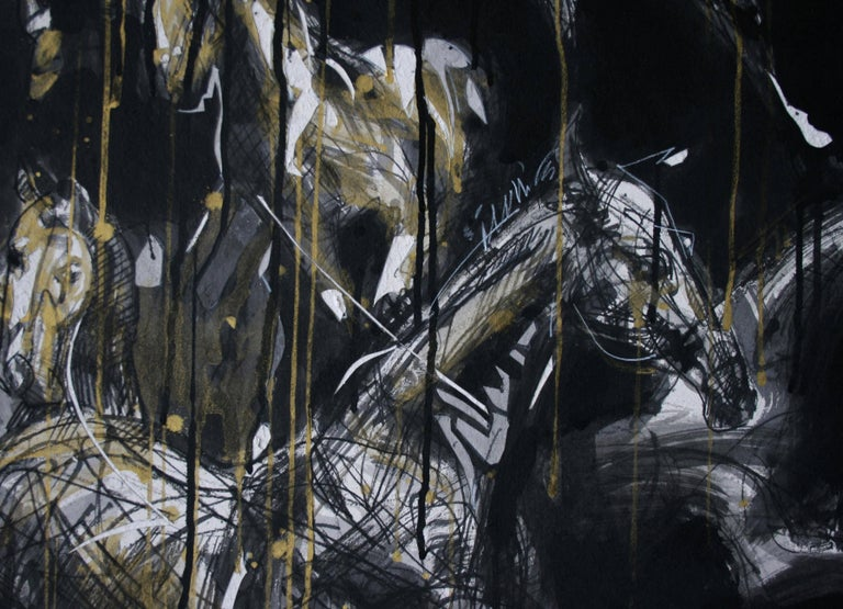 Nocturnal Melody 2 - Animal Painting (Horses) 3