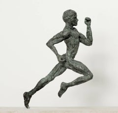 Sprinter, bronze running man sculpture