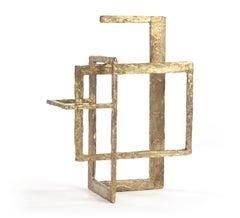 Bronze Block, Abstract Bronze Sculpture