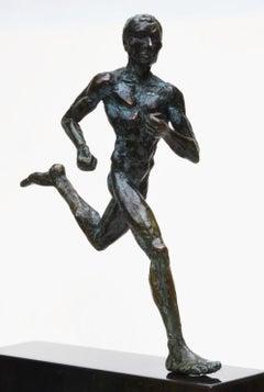 Marathon Runner, Male Nude Bronze Sculpture