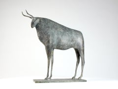 Bull III, Animal Bronze Sculpture