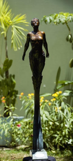 The Innovation Muse, Female Figure Bronze Sculpture
