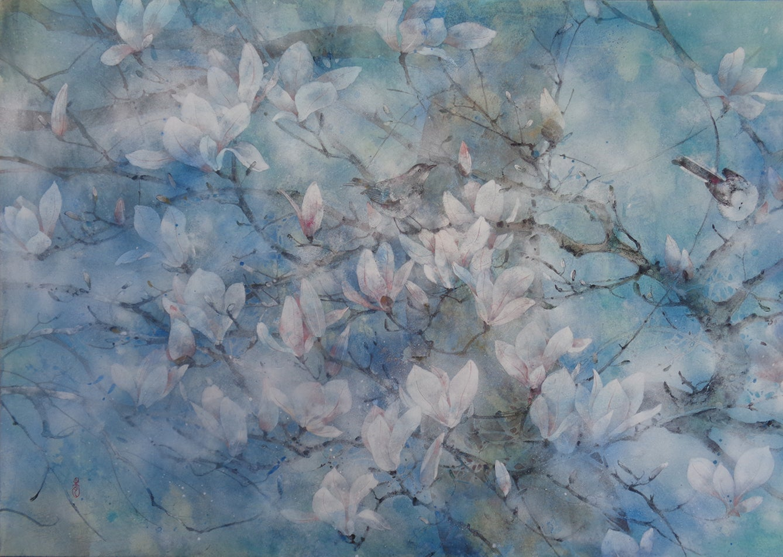 The Spring Wind, Contemporary Nihonga (Japanese Painting)