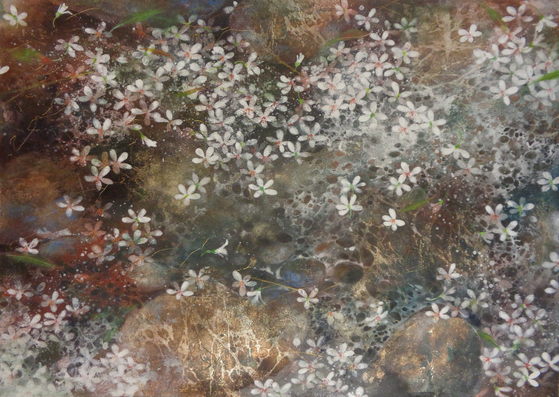 Snow of May II - Contemporary Nihonga (Japanese Painting)