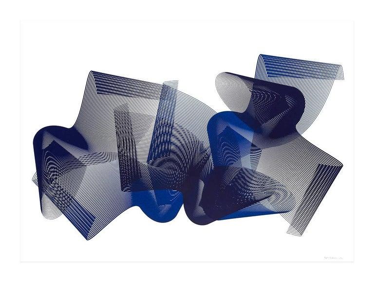Kate Banazi Abstract Print - Asymmetry #1