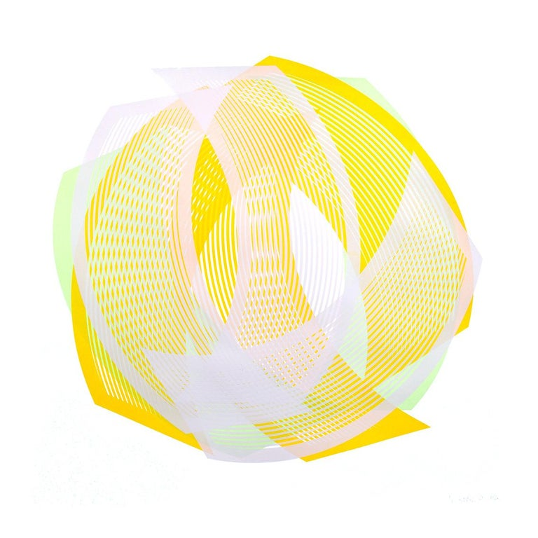 Lemon Wonder - abstract print by Kate Banazi