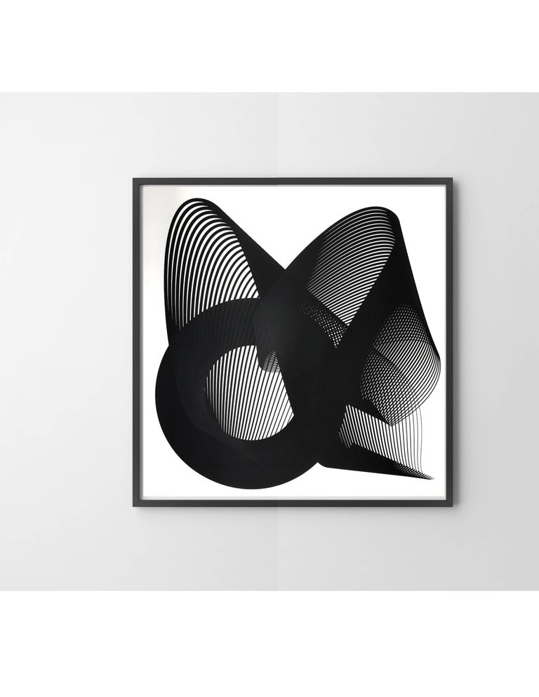 Fold - Abstract geometric print on paper, Minimalist, Modern Style, Monotone - Print by Kate Banazi