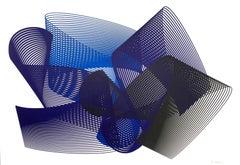 Dreams - abstract screenprint on paper - minimalist, modern art, 21st century