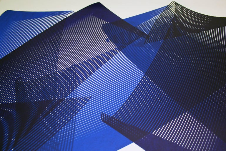 Dreams - abstract screenprint on paper - minimalist, modern art, 21st century - Print by Kate Banazi