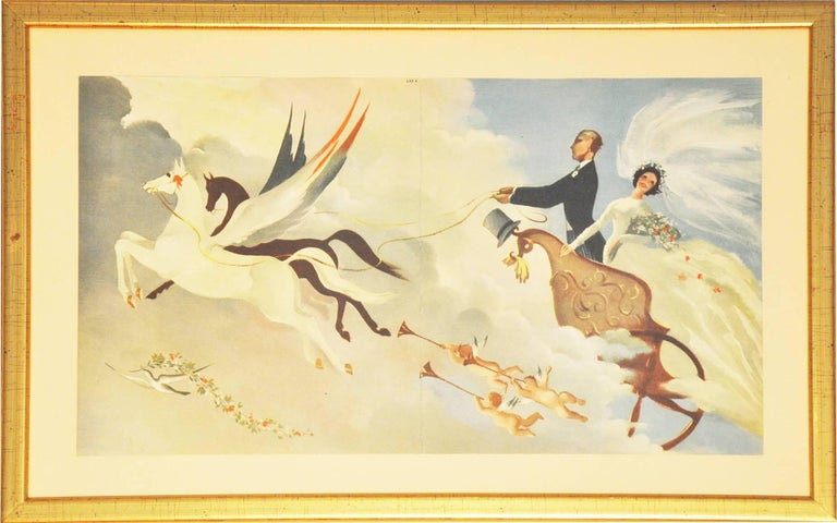British Post Office Greetings Telegrams (1935-1978), after various artists - Orange Figurative Print by Various Artists