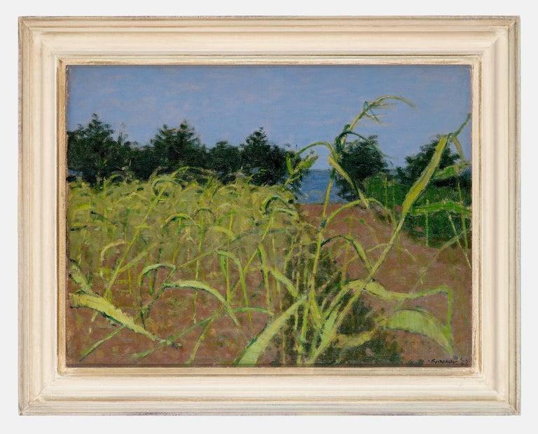 William Brooker Landscape Painting - Maizefields, Ibiza