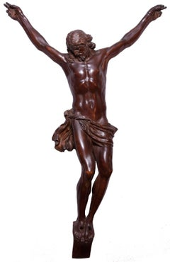 Large fruitwood Christ corpus, early 18th century
