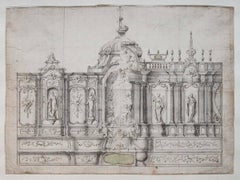 Project for a church interior design, c. 1730-1740