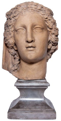 Head of a woman all'antica by Ludovico Benzoni, circa 1795