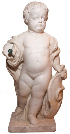 Marble child statue, Italy, late eighteenth century