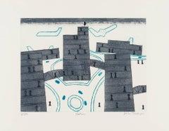 Heathrow, Print, Etching, Aquatint, Contemporary by Julian Trevelyan
