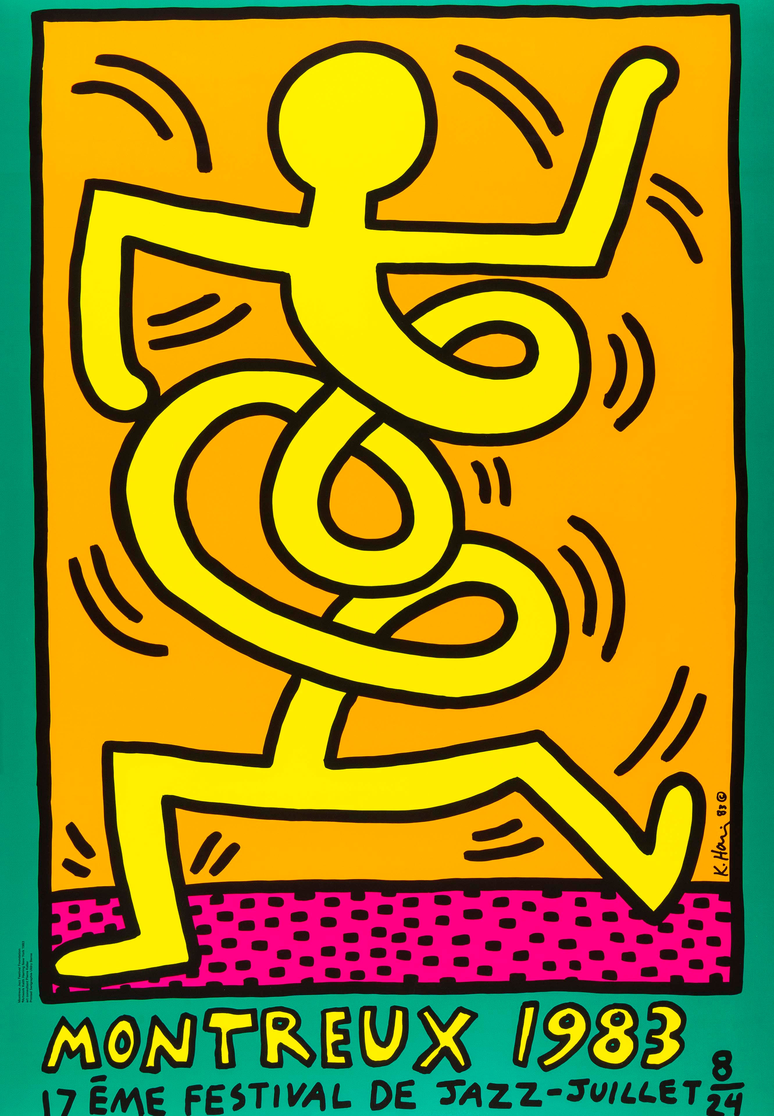 Montreux Jazz Festival -- Screen Print, Pop Shop by Keith Haring