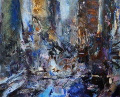 Cobalt Ground, abstract acrylic painting on canvas