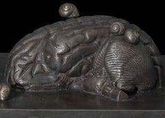 Piano Piano, cast bronze skull sculpture