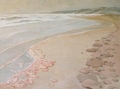 Rainy Sea Port Borden PEI, landscape watercolour painting