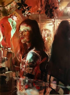 Ruby Diamond, figurative oil painting on canvas