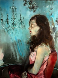 Ruby Red, figurative oil painting on canvas