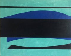 Minas Basin III, abstract oil painting on canvas on board
