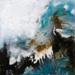 La Chute de Jeanne,  abstract oil painting on canvas