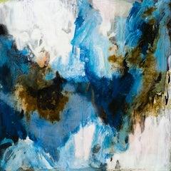 La Chute de Jeanne 2,  abstract oil painting on board