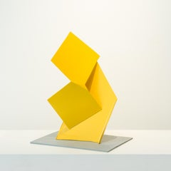 Bui, steel sculpture painted yellow (maquette)