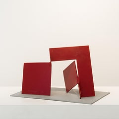 Tlingit, steel sculpture painted red (maquette)