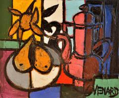 Poires Sur la Table by Claude Venard