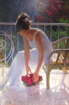 Portrait Painting' Violeta' by Vladimir Volegov