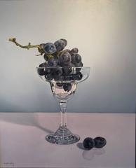 Glass with Grapes