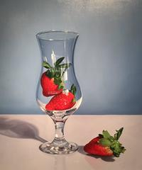 Glass with Strawberries